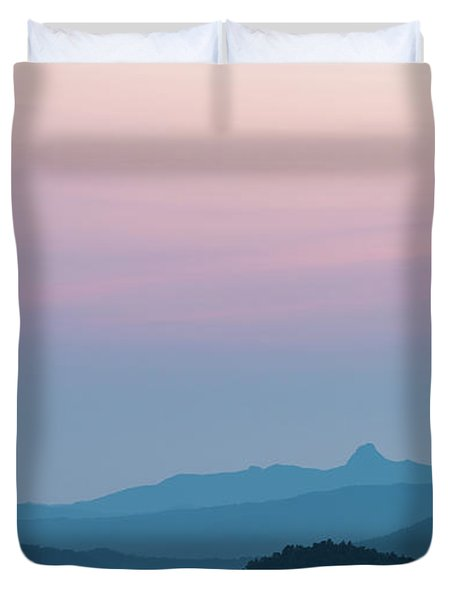 Blue Ridge Mountains After Sunset Duvet Cover
