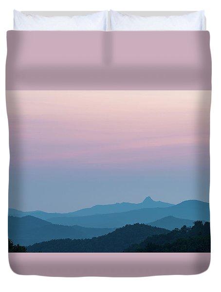 Blue Ridge Mountains After Sunset Duvet Cover