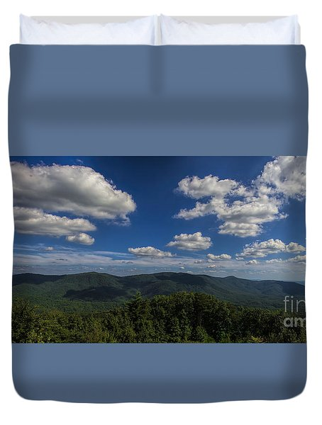 Duvet Cover featuring the photograph Blue Ridge Mountains by Barbara Bowen