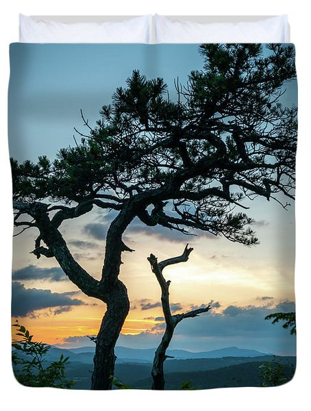 Blue Ridge Mountains Dr. Tree Duvet Cover
