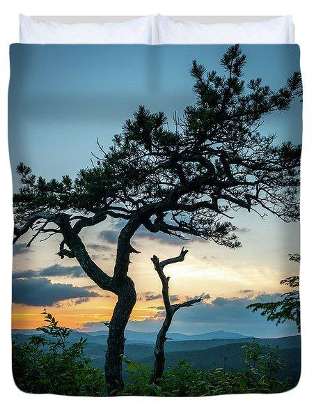 Blue Ridge Mountains Dr. Tree Duvet Cover