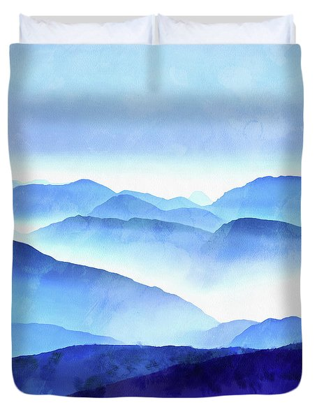 Blue Ridge Mountains Duvet Cover