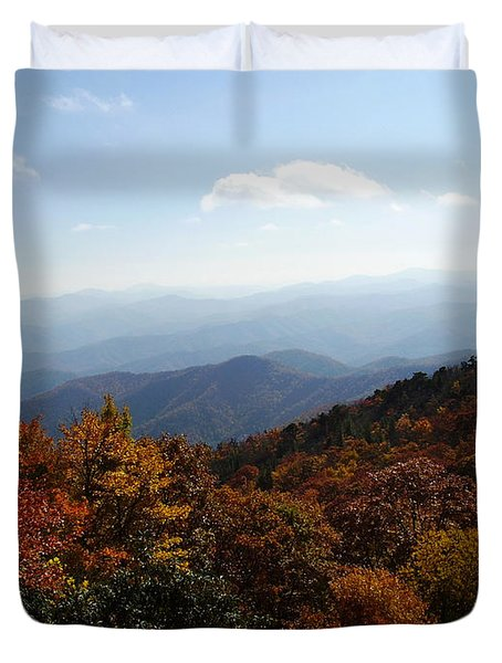 Blue Ridge Mountains Duvet Cover by Flavia Westerwelle
