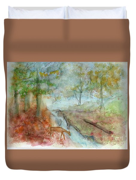 Blue Ridge Mountains Memories Duvet Cover