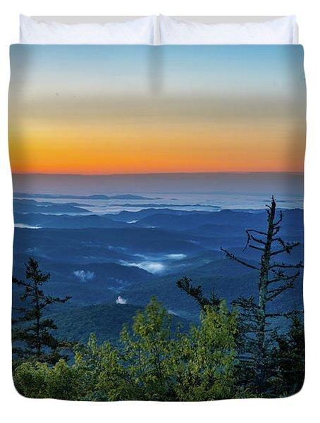 Blue Ridge Mountains Sunrise Duvet Cover