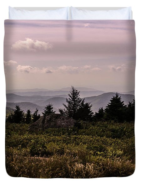 Blue Ridge Overlook Duvet Cover