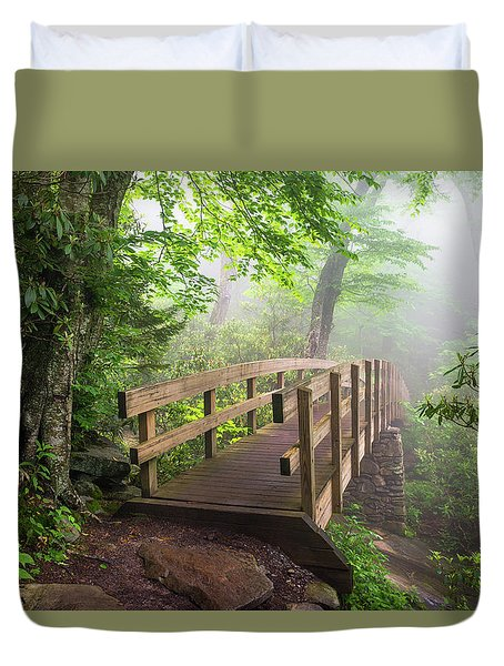 Blue Ridge Parkway Hiking Tanawha Trail Rough Ridge Duvet Cover