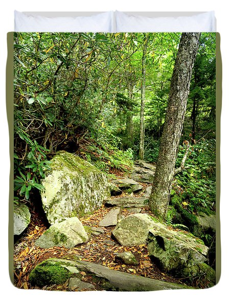 Duvet Cover featuring the photograph Blue Ridge Parkway Hiking Trail by Meta Gatschenberger