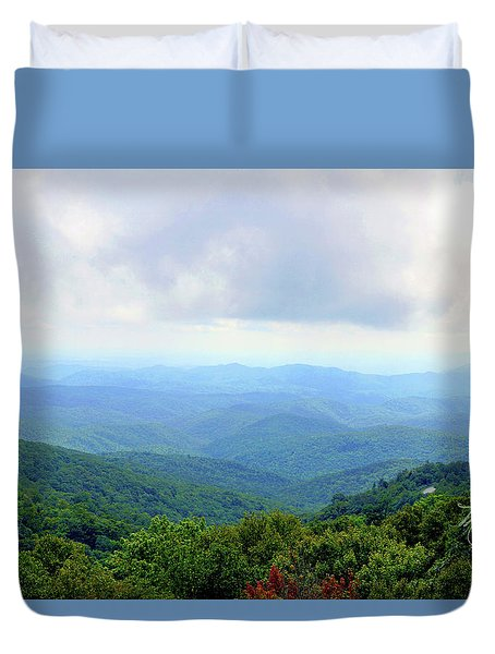 Blue Ridge Parkway Overlook Duvet Cover