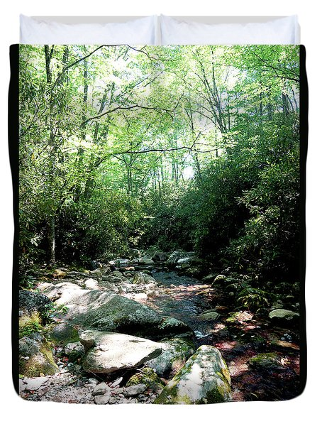 Duvet Cover featuring the photograph Blue Ridge Parkway Stream by Meta Gatschenberger