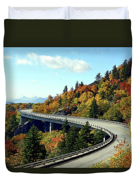 Duvet Cover featuring the photograph Blue Ridge Parkway Viaduct by Meta Gatschenberger