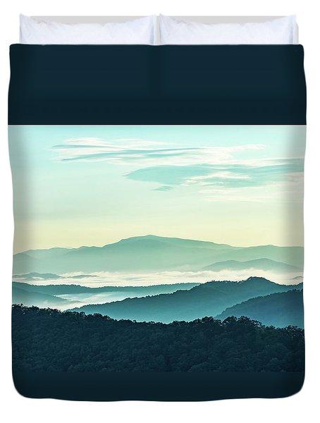Blue Ridge Pastel Duvet Cover