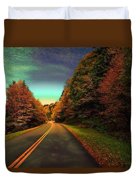 Blue Ridge Pkwy Duvet Cover by Dennis Baswell