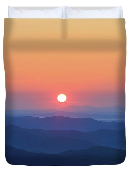 Blue Ridge Sunrise Duvet Cover by Dale R Carlson