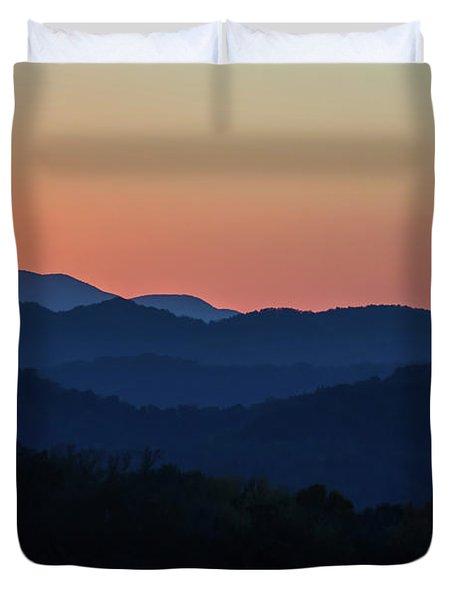 Blue Ridge Sunset Duvet Cover