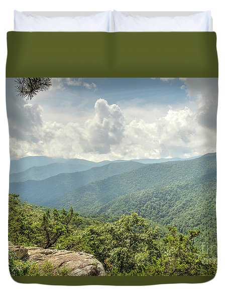 Blue Ridge View Duvet Cover