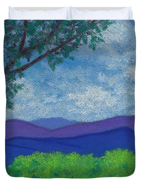 Blue Ridges 4 Duvet Cover