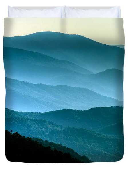 Blue Ridges Duvet Cover