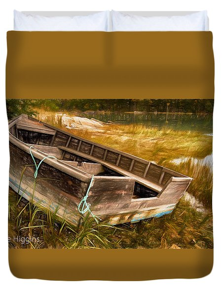 Blue Rope, Barter's Island, Maine Duvet Cover by Dave Higgins