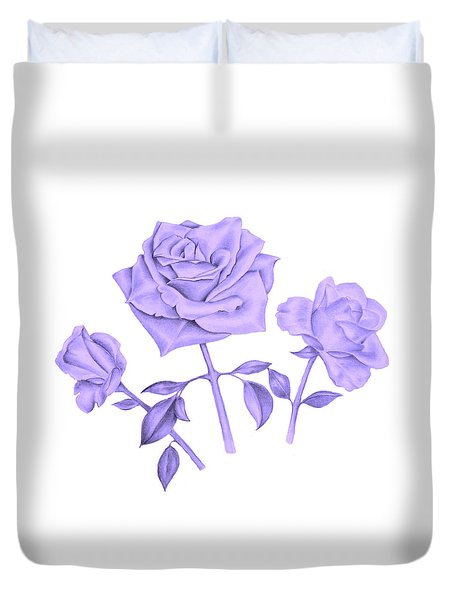 Blue Rose Duvet Cover by Elizabeth Lock
