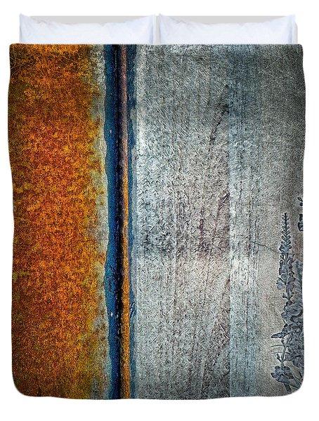 Blue Rust Duvet Cover
