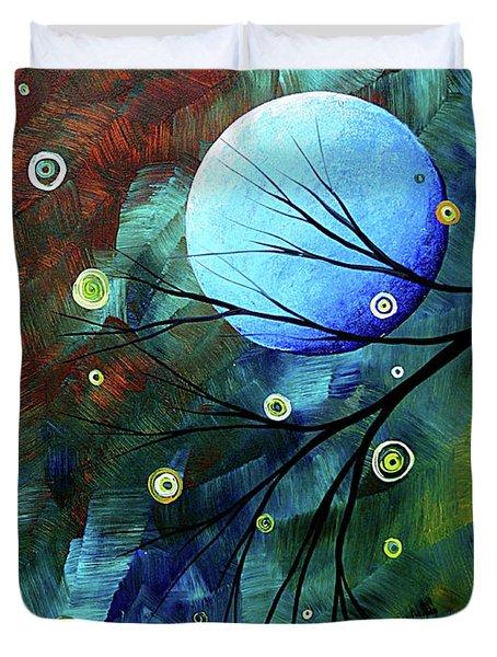 Blue Sapphire 1 By Madart Duvet Cover by Megan Duncanson