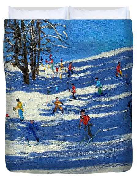 Blue Shadows Duvet Cover by Andrew Macara