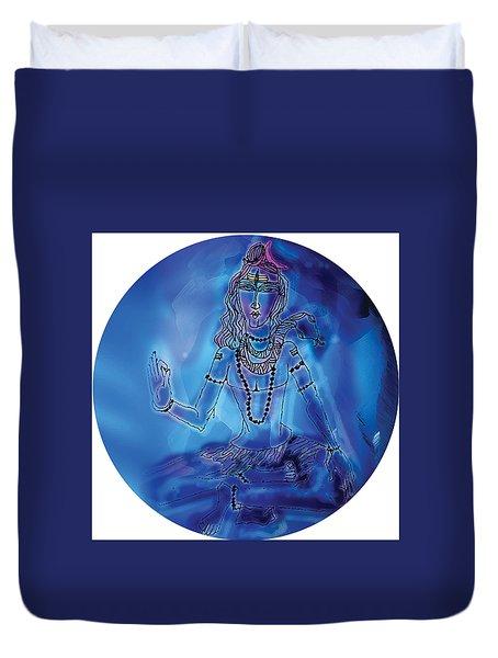Blue Shiva  Duvet Cover