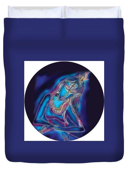 Blue Shiva Light Duvet Cover