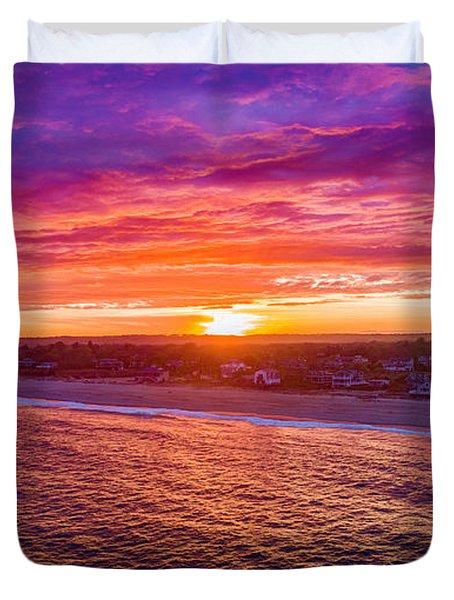 Blue Shutter East Beach Duvet Cover