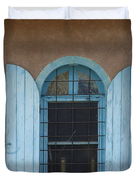 Blue Shutters Duvet Cover by Jerry McElroy
