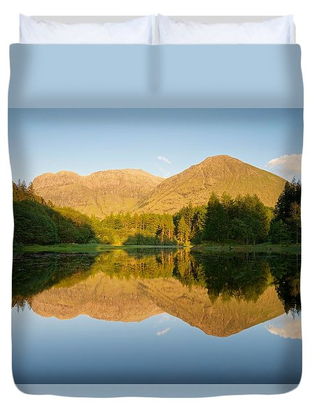 Blue Skies At Torren Lochan Duvet Cover