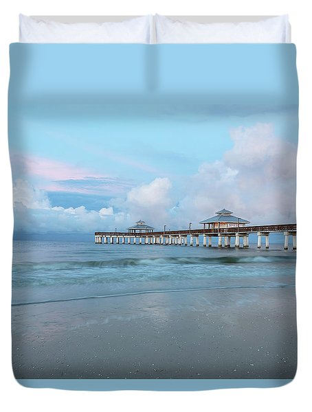 Duvet Cover featuring the photograph Blue Skies by Kim Hojnacki