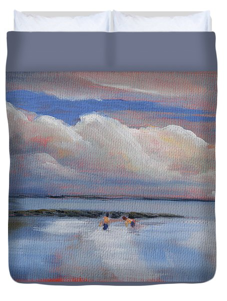 Blue Sky And Clouds I Duvet Cover