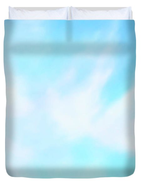 Blue Sky Duvet Cover by Anton Kalinichev