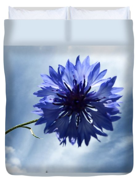 Blue Sky Blue Flower Duvet Cover