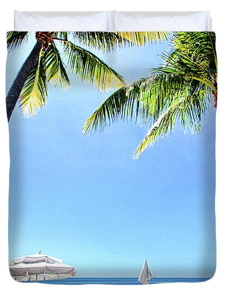 Duvet Cover featuring the photograph Blue Sky Breezes by Phil Koch