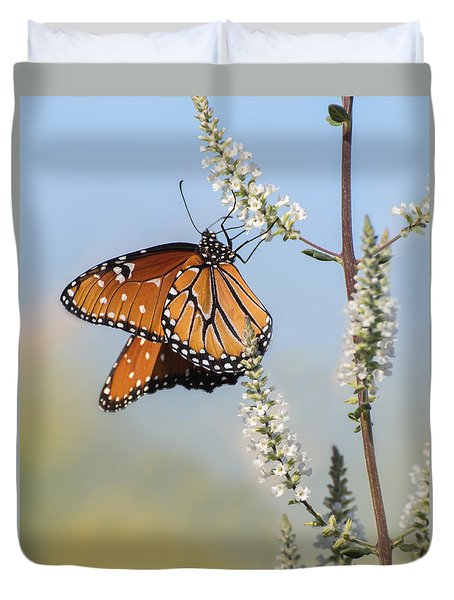 Duvet Cover featuring the photograph Blue Sky Dancer  by Julie Andel