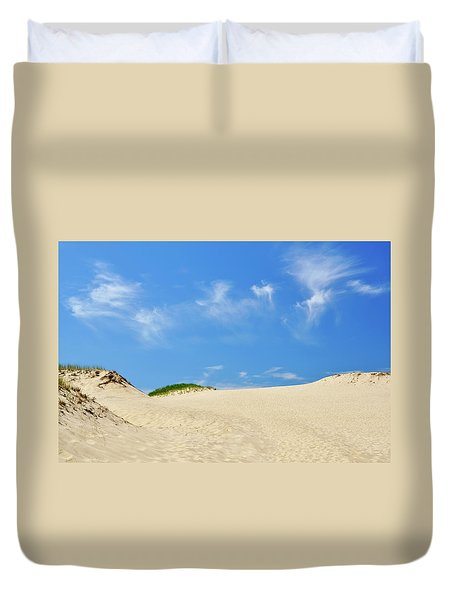 Blue Sky Dunes Duvet Cover
