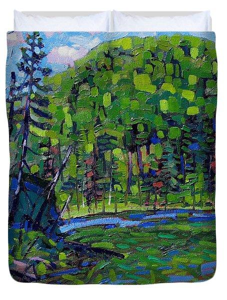 Blue Sky Greens Duvet Cover
