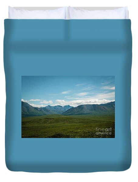 Blue Sky Mountians Duvet Cover