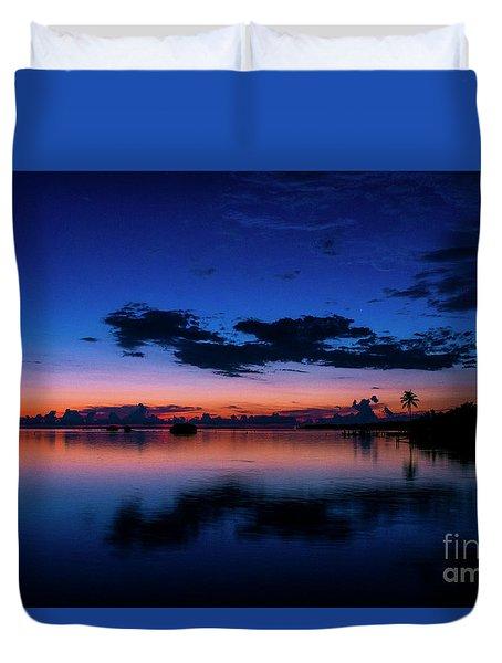 Blue Sky Night Duvet Cover by Quinn Sedam
