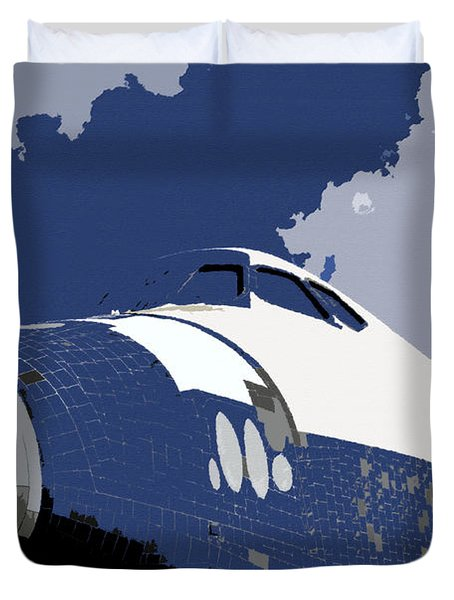 Blue Sky Shuttle Duvet Cover by David Lee Thompson