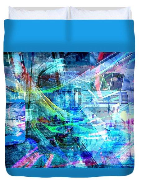 Blue Smile Duvet Cover