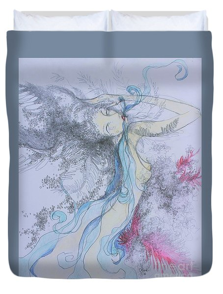 Blue Smoke And Mirrors Duvet Cover by Marat Essex