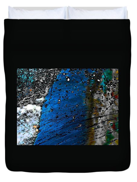 Duvet Cover featuring the photograph Blue Spectacular by Richard Ricci