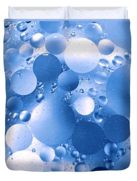 Blue Sphere Flow Duvet Cover