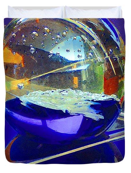 Blue Sphere Duvet Cover