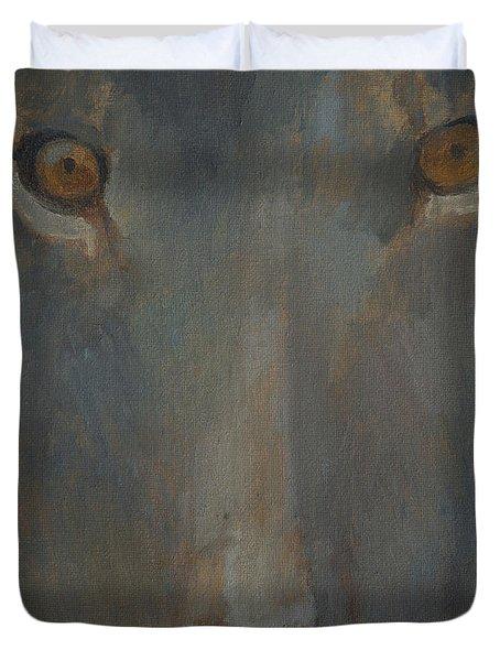 Blue Sphinx Duvet Cover