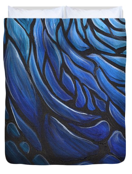 Blue Stained Glass Duvet Cover